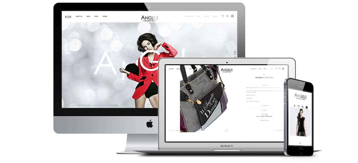 angels concept store sito web - Sito Web - Angels concept Store - Web Agency Napoli Flashex