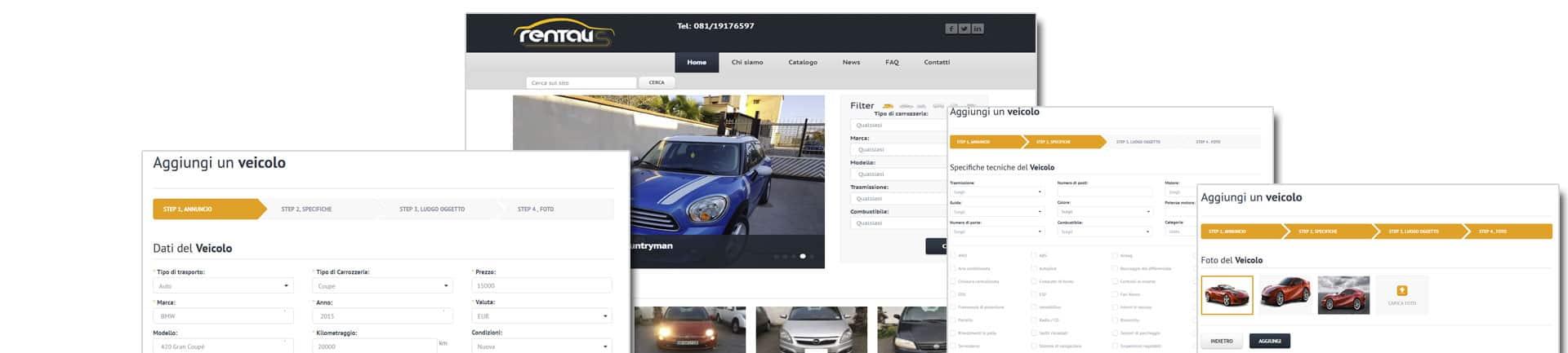 annunci auto concessionaria piede - Creazione Siti web per concessionarie auto ed annunci - Web Agency Napoli Flashex