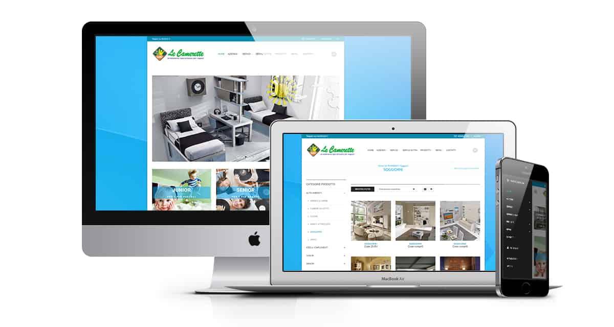 Realizzazione sito web di arredamento ed e-commerce , Le Camerette