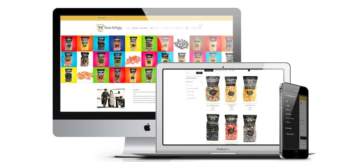 pastaepasta sito web pastificio - Sito Web - Pasta e Pasta - Web Agency Napoli Flashex