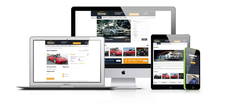 siti concessionarie auto moto mockup rentalis 1 - Creazione Siti web per concessionarie auto ed annunci - Web Agency Napoli Flashex