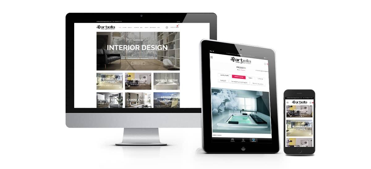 Sito web e-commerce di arredamento barbella new generation castellammare di Stabia - Napoli