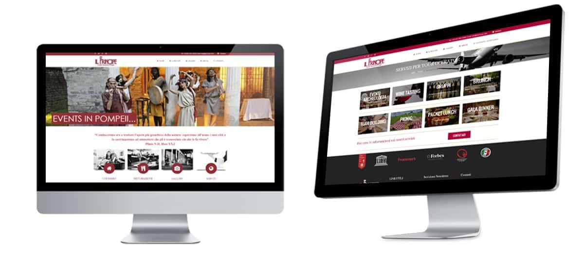 Realizzazione sito web ristorante il principe pompei