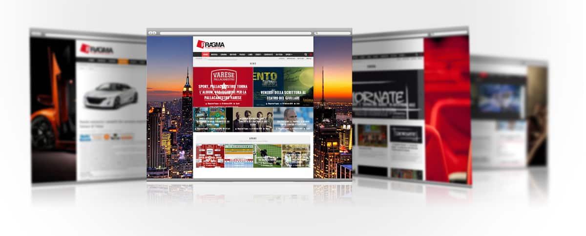 magazine pragma sito web per testata giornalistica