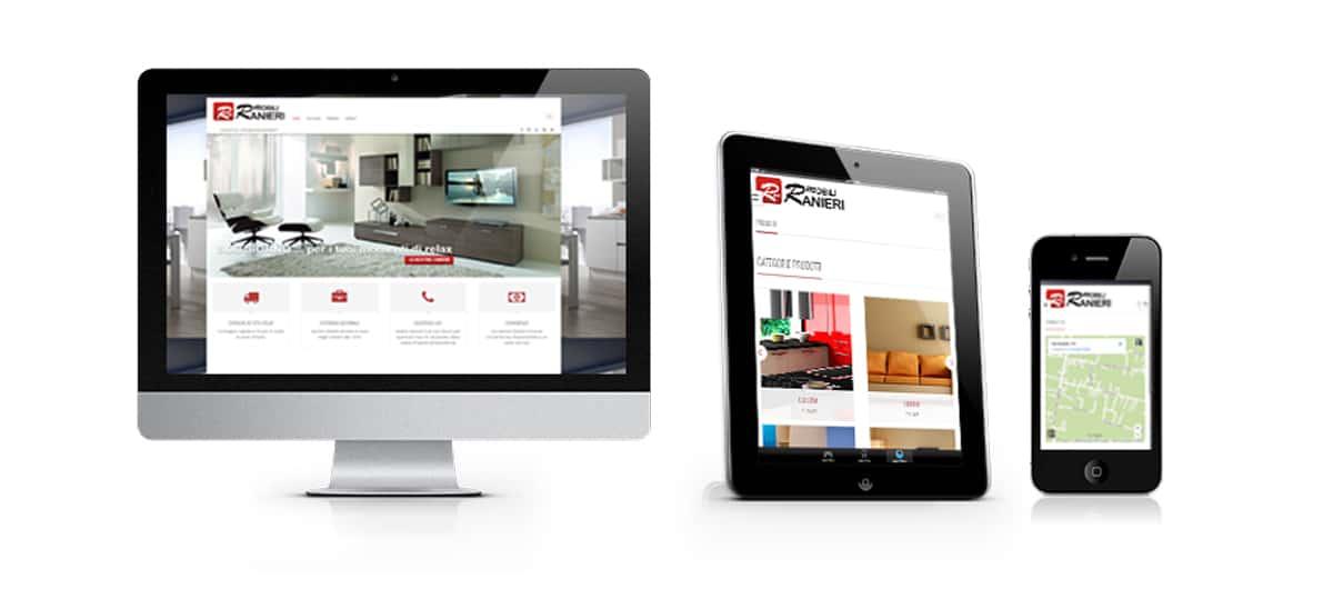 mobili ranieri sito web arredamento ecommerce