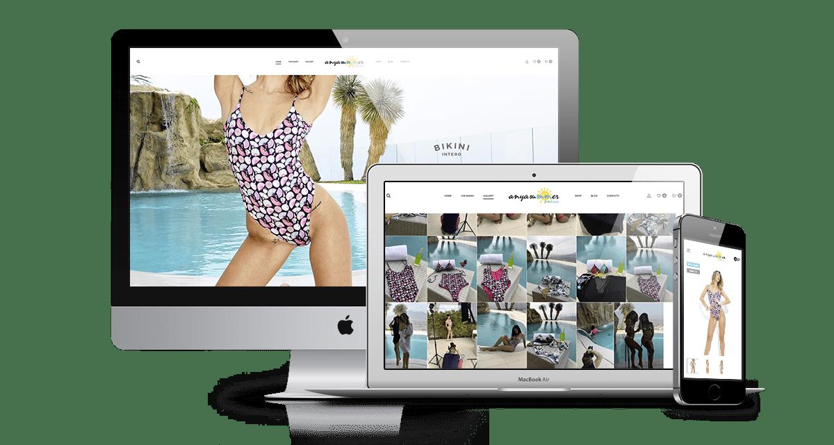 anyasummer realizzazione sito web ecommerce costumi da mare e bikini