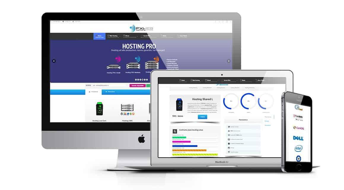 Realizzazione sito web società di hosting e domini | FXweb