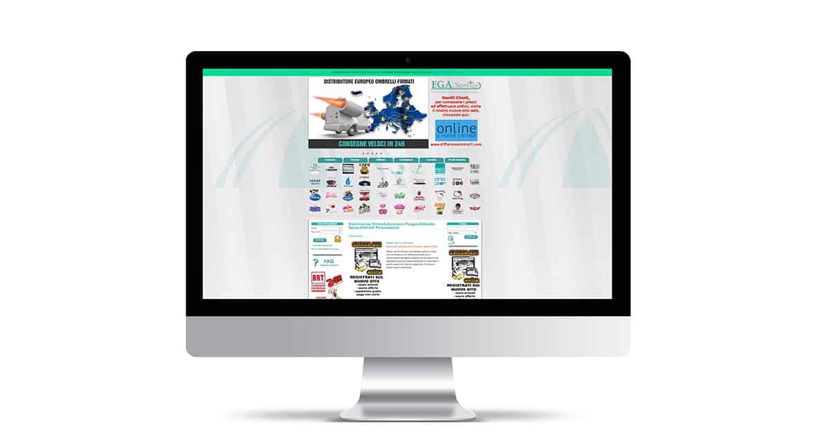 sito ecommerce vendita online ombrelli , fga diffusione ombrelli