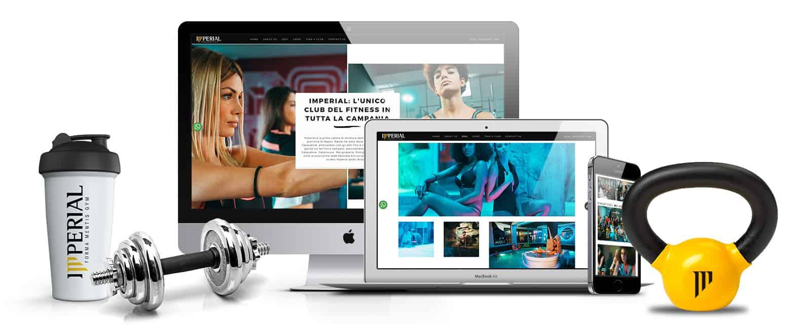 Siti web per palestre, centri fitness, crossfit - imperial palestre , napoli, campania