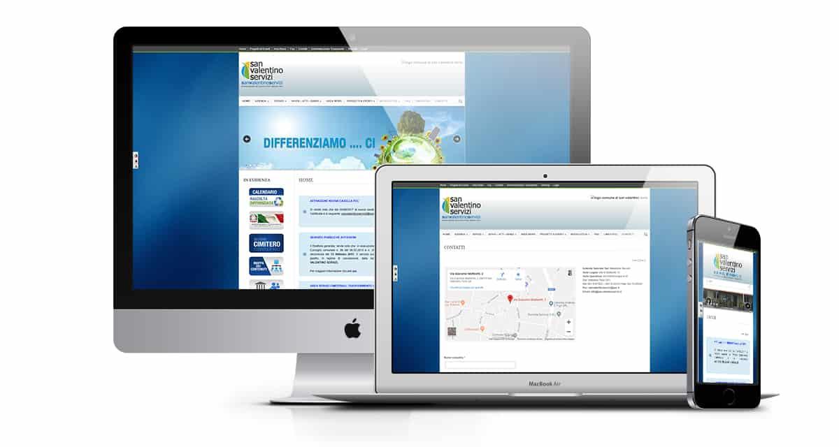 Sito Web portale istituzionale, Azienda speciale san valentino servizi ,