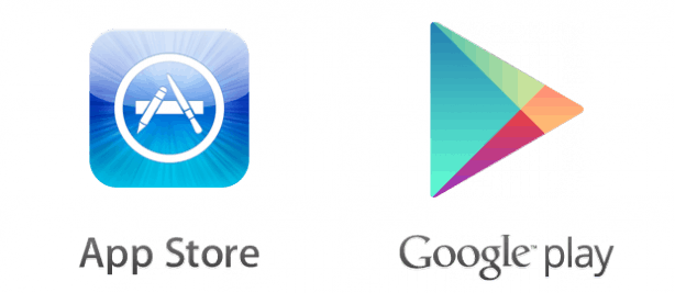 app store google play 614x267 - App IOS \ Android (Web App) - Web Agency Napoli Flashex