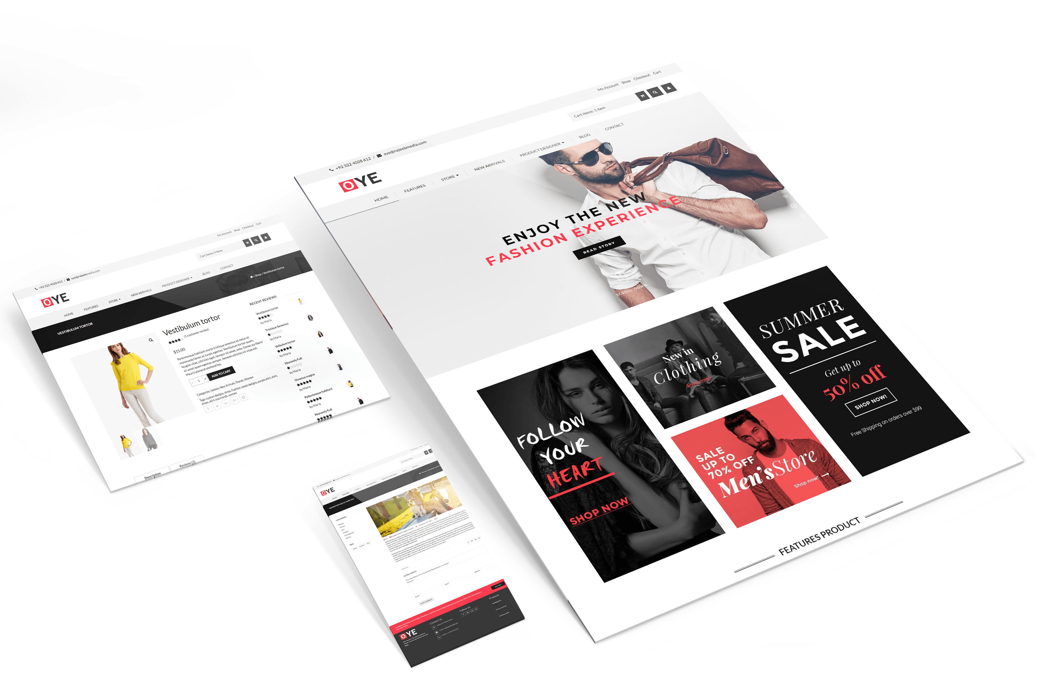 Siti web in prospettiva mockup | Web agency napoli flashex