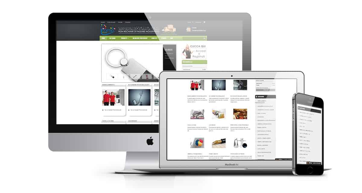 diffusione promo vendita gadget promozionali stampa accessori pubblicitari - Sito Web E-commerce vendita accessori promozionali - Web Agency Napoli Flashex
