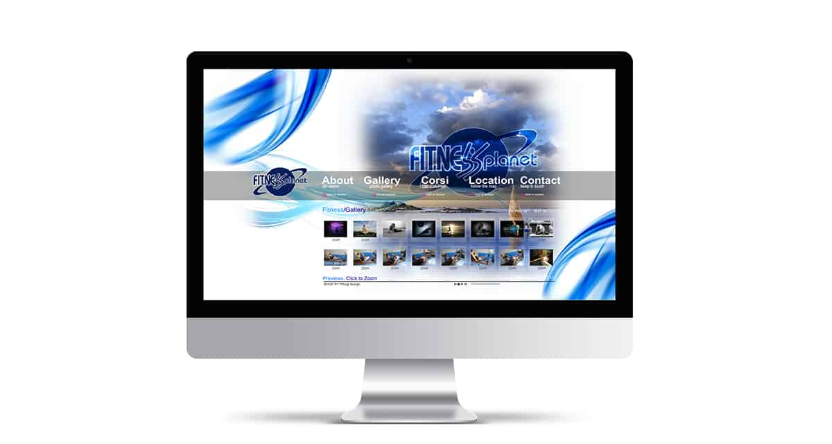 creazione sito web palestra fitness planet castellammare di stabia Napoli