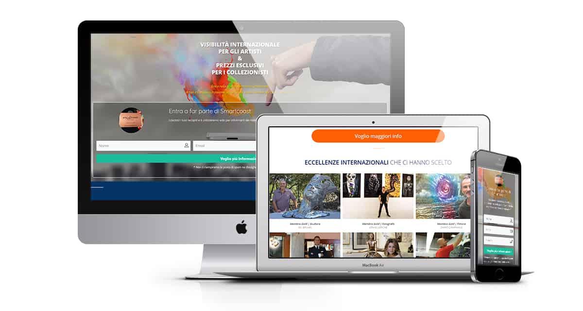 smartcoast gallery landing page sito web 1 - Landing Page - SmARTcoast Excellence - Web Agency Napoli Flashex