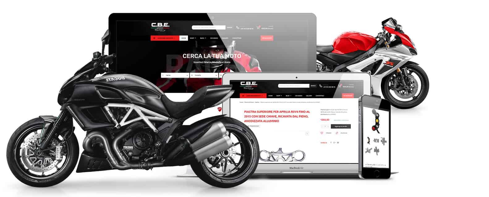 cbefactory realizzazione sito ecommerce accessori moto - Realizzazione Ecommerce accessori moto in cnc - CBE FACTORY - Web Agency Napoli Flashex